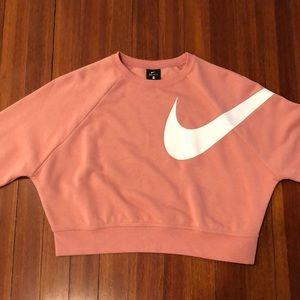 Pink Nike Cropped Sweater